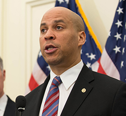 Senator Cory Booker co-sponsor of CARERS Act in the Senate