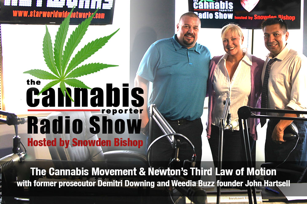 The Cannabis Movement & Newton's Third Law of Motion with former prosecutor Demitri Downing and Weedia Buzz founder John Hartsell