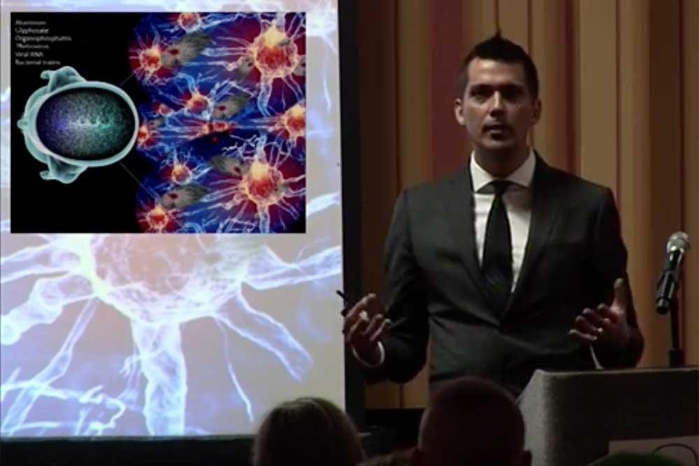 Dr. Christian Bogner speaking on Endocannabinoid Signaling in Autism
