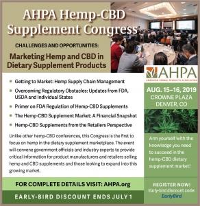 AHPA Hemp-CBD Supplement Congress