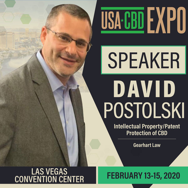 Intellectual Property and Patent Attorney, David Postolski on The Cannabis Reporter Radio Show hosted by Snowden Bishop - Speaking at the USA CBD Expo in Las Vegas